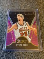 STEVE KERR 2013-14 PANINI SELECT CLUTCH PURPLE PRIZM REFRACTOR /99 CHICAGO BULLS