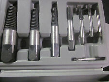 "REMOVES BROKEN SCREWS BOLTS STUDS 8pc JUMBO SCREW EXTRACTOR SET 5/32"" TO 15/16"""