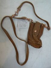 $28 Free People Cognac Leather Crossbody Bag iPhone 4 4S 5 Wallet Case NEW F398