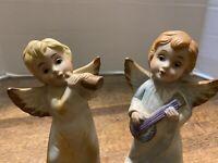 Vintage Angels Girl And Boy Porcelain Figurines Adorable