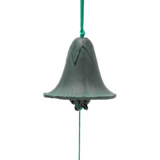 Japanese Furin Wind Chime Cast Iron Morning Glory Bell w/ Butterfly/ Made Japan