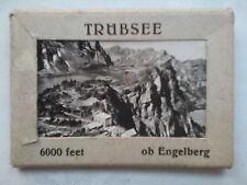 TRUBSEE SWITZERLAND.MINI PHOTOGRAPH SET,10 DELUX,NEW,1940-50 ?.MOUNTAIN LAKE