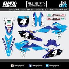 YAMAHA YZF 250 450 Mx Decals Graphics Stickers Full Motocross kit Dirt Bike 2016