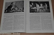 1942 magazine articles US Army Quartermaster, supplies, + troops paintings