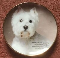 "Danbury Mint The Poetry Of The Westie ""Eyes Of Love"" Plate"