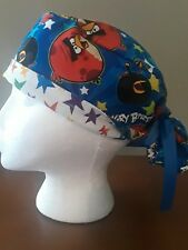 Angry Birds Women's Ponytail Surgical Scrub Hat/Cap Handmade