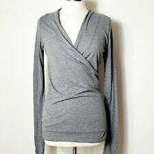 Anthropologie Velvet by Graham & Spencer Meri Top L NWT Gray