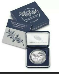 End of World War II 75th Anniversary Silver Medal Coin