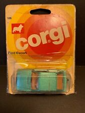Corgi Junior Ford Escort #105 1978 On Card 55099 LOTS OF TAPE but Rare Colour