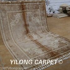 Yilong 5.6'x8.4' Square Silk Rugs Hand Knotted Top Antique Hand-made Carpet 1817