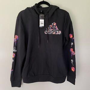adidas Women's Neon Roses Hoodie Sweatshirt-Size Large-NWT-HA5582270BOSFLORAL