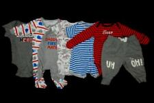 Lot of 6 Baby Size Newborn Clothes One Pieces Pants Tops Sleeper