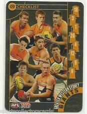 2013 AFL TEAMCOACH TEAM COACH GREATER WESTERN SYDNEY GOLD CHECKLIST 09 CARD
