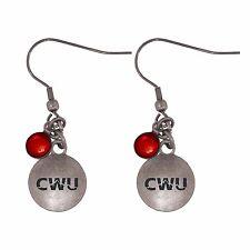 Central Washington University-Frankie Tyler Charmed Earrings-Red