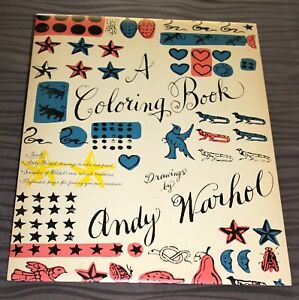 Andy Warhol Coloring Book Drawings 1990 First 1st Edition