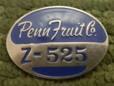 Obsolete Penn Fruit Company Employee Badge #Z-525