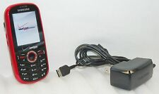 Samsung Intensity Verizon RED Slider Cell Phone SCH-U450 MicroSD vCast camera
