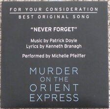 MURDER ON THE ORIENT EXPRESS BEST ORIGINAL SONG FYC CD NEVER FORGET PFEIFFER