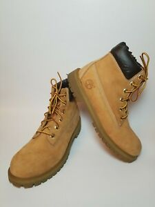 Timberland Classic 6 Inch Wheat Leather Waterproof Lace Up Boots Women's Size 5