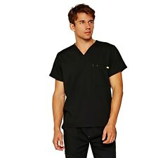 FIGS Mens Work Hard, Play Hard Black Medical Uniform Scrub Top Size 2XL