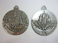 LOT 2 Taste of Home Pewter CHRISTMAS ORNAMENT 1995 1997 Sleigh ride, Candle