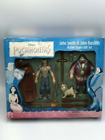 Disney POCAHONTAS John Smith & John Ratcliffe Percy Action Figure Set Mattel Box