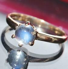 10k yellow gold ring 0.89ct moonstone solitaire size 6.5 vintage 2.1gr N2494C