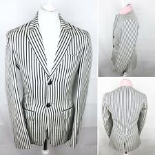 JACK WILLS Striped Blazer Size Small Casual Jacket Races Work Well Worn Marked