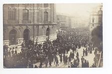 SUISSE SWITZERLAND Canton NEUFCHATEL manifestations syndicales de 1922 CP PHOTO