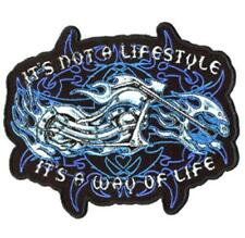 BLAZING BIKER WAY OF LIFE EMBRODIERED PATCH  MOTORCYCLE biker iron on  P2590