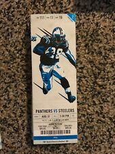 2017 CAROLINA PANTHERS VS PITTSBURGH STEELERS TICKET STUB 8/31 NFL
