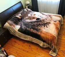 Thick Winter Queen Size Mink Blanket Quilt 200cm x 240cm - Wolf