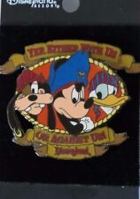 DISNEY DLR PIRATES OF CARIBBEAN FAB 3 WITH US GOOFY MICKEY DONALD ATTRACTION PIN