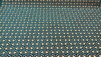Dimension Turquoise Geometric Chenille Upholstery Fabric by the yard