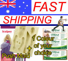 Woman Push Mold with your colour choice of 1 x Living Doll Polymer Clay