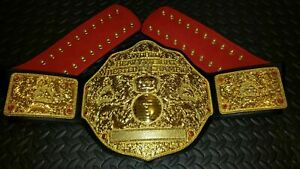Big Gold Heavyweight championship wrestling Title belt