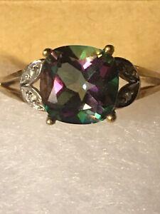 10k Gold Mystic Topaz Ring