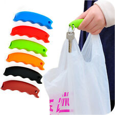 1x Grocery Plastic Bag Silicone Carrying Tool Holder Handle Grip Shopping Helper