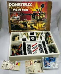 Fisher Price Construx THUNDERING TRACKS 6330 Military Series vintage 1986 w/box