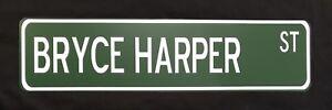 """Bryce Harper 24"""" x 6"""" Aluminum Street Sign  Philadelphia Phillies MLB Baseball"""