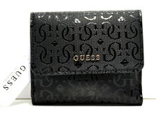Guess Kamryn Signature Womens Small Card & Coin Wallet Purse Black