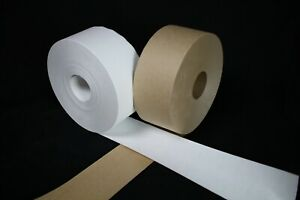 "3"" x 600' Roll WHITE KRAFT Non-Reinforced WHITE PAPER TAPE"