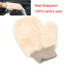 Real Sheepskin Mitt Lambswool Glove Car Polish Soft  Polishing Cleaning Washing