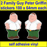 2 Funny Family Guy Peter stickers bike bedroom laptop toolbox vw van car Decals