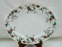"Minton Bone China Ancestral Pattern S376 Oval Serving Platter 12 1/2"" Exclt w1s5"