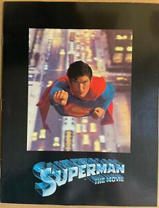 SUPERMAN THE MOVIE Original 1978 Souvenir Program Booklet - Christopher Reeve