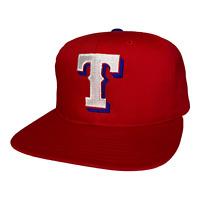 Vintage 90s Texas Rangers MLB Baseball Red Snapback Hat Cap Twins Enterprise