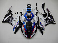 CN ABS Blue White BLK White Fairing Bodywork Injection Kit For BMW S1000RR 15-16