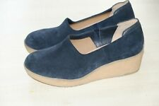 Clarks Originals Navy suede ladies platform shoes size 5.5/39 D