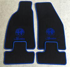 Autoteppiche Fußmatten für Alfa Romeo Spider Typ 916 ab 1994' m. Logo blau Neu